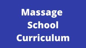massage school curriculum
